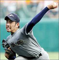 Yusei Kikuchi, 18 year-old high school pitcher from Japan, is getting a lot of attention from major league scouts. No Japanese high school player has ever gone straight to MLB.