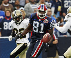 Terrell Owens has caught just five passes in the Bills' 1-2 start.