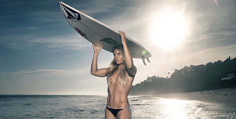 Sneak preview: Australian pro surfer Claire Bevilacqua is featured in ESPN The Magazine's Body Issue.