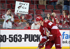 The Phoenix Coyotes discounted ticket prices for the Oct. 10 home opener vs. the Columbus Blue Jackets and will hand out white T-shirts to fans.