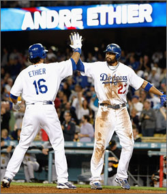 Among ingredients that make the Dodgers dangerous this postseason are the productive bats of outfielders Andre Ethier, 27, and Matt Kemp, 25.