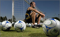 Landon Donovan takes a break from duties with the MLS's Galaxy. The American also has the 2010 World Cup on his mind.