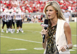 ESPN's Erin Andrews reports from the South Carolina-N.C. State game from earlier this season.