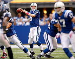 Peyton Manning's Colts are 4-0 and the quarterback is playing like he wants to win a record fourth NFL MVP award.