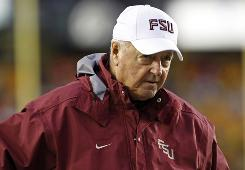 Florida State head coach Bobby Bowden is shown walking the sideline during the second half against Boston College at Alumni Stadium in Boston. Boston College won 28-21. The chairman of the Florida State University trustees wants Bobby Bowden to retire at the end of this season. Jim Smith said Monday that the arrangement with Bowden as head coach and his successor, Jimbo Fisher, as offensive coordinator isn't working.