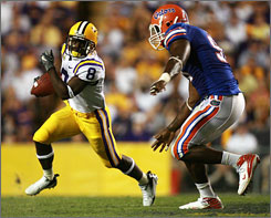 LSU wide receiver Trindon Holiday hopes to find some running room against the Florida defense on Saturday.