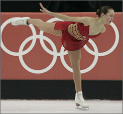 Kimmie Meissner, shown competing at the 2006 Olympics in Torino, has withdrawn from a pair of events this season due to a knee injury.