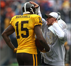 Brandon Marshall has scored four touchdowns in the past three games for Josh McDaniels' Denver Broncos.
