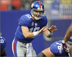 Eli Manning has made 76 consecutive starts for the Giants.