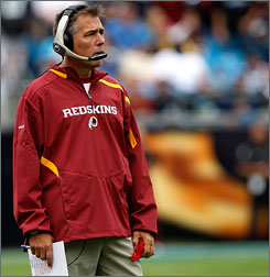 Redskins coach Jim Zorn says he is blocking out distractions about his job security after the team's 2-3 start.