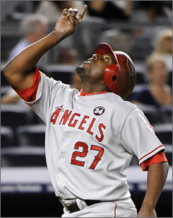 Vladimir Guerrero had drivien in one run in his previous 19 postseason games before delivering a two-run single to cap the Angels improbable comeback against Jonathan Papelbon and the Red Sox in Game 3 of the ALDS.