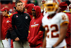 "Redskins coach Jim Zorn acknowledged his offense was ""awful"" on Sunday in a loss to the Chiefs."