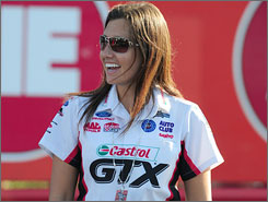 Ashley Force Hood aims to avoid running scared between now and the NHRA's next race, which is scheduled on Halloween weekend.