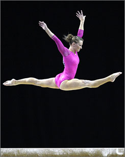 American Bridget Sloan was named this week's USA TODAY Olympic Athlete of the Week after winning the all-around world championship in gymnastics.