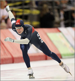 Tucker Fredricks won each of his 500-meter heats Wednesday at the U.S. World Cup speedskating team trials in Wisconsin.