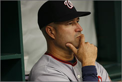 Manny Acta was let go by the Washington Nationals after a 21-61 start last season.