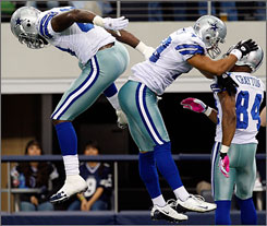 The Cowboys improved to 4-2, just one-half game behind the Giants in the NFC East, with a win against Atlanta on Snuday.
