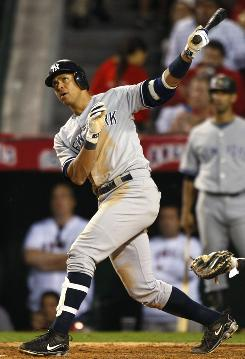 Three of Yankees third baseman Alex Rodriguez's home runs this postseason came in the seventh inning or later to tie the game.