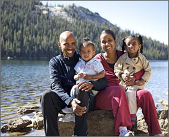 A recent photo of Meb Keflezighi and his family at Yosemite National Park.