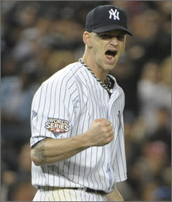 A.J. Burnett allowed just one run in seven innings to help the Yankees even the Series at 1-1.