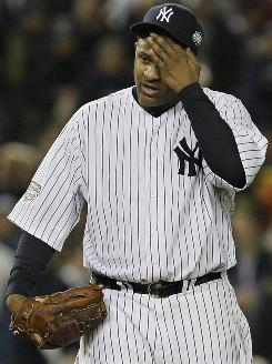 "Yankees pitcher CC Sabathia says pitching on short rest is no big deal: ""It's all the same once you get (the pitch count) up past a certain number."""