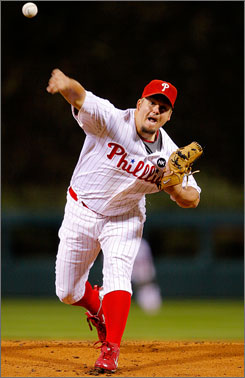 Joe Blanton will start Game 4 of the World Series for the Philadelphia Phillies against New York's CC Sabathia.