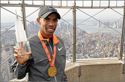 Meb Keflezighi became the first American to win the New York City Marathon since 1982.