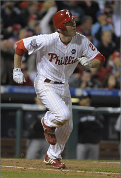 Chase Utley has tied a record with five home runs this World Series, including two Monday as the Phillies avoided elimination.