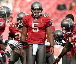 Bucs rookie QB Josh Freeman will get his first start against the Packers on Sunday.