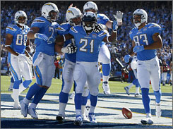 LaDainian Tomlinson has scored just three touchdowns for the Chargers this season.