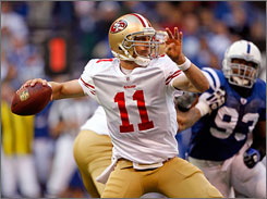 Alex Smith is back as the starting QB of the San Francisco 49ers, who drafted him with the top overall pick in 2005.