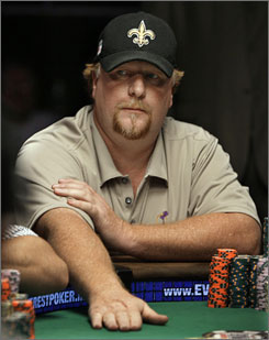 Darvin Moon, a logger in western Maryland, enters the World Series of Poker's final table with 58.9 million chips.