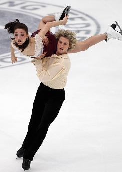 Meryl Davis and Charlie White perform in the free dance.