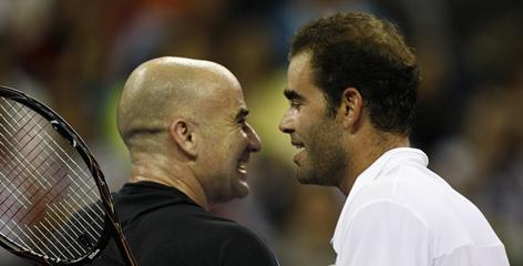 Andre Agassi and Pete Sampras, playing last month in an exhibition in Macau, made up one of the sport's greatest rivalries during their prime years in the 1990s.