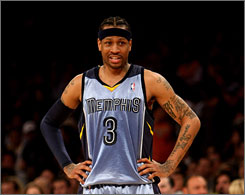 Allen Iverson, 34, signed a one-year incentive-laden deal with the Grizzlies in September. Memphis owner Michael Heisley granted the guard an indefinite leave to deal with a personal matter.
