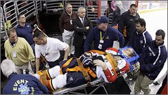 Florida's David Booth hasn't played since he was knocked unconscious by a check from Philadelphia's Mike Richards in an Oct. 24 game.