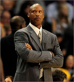 Byron Scott compiled a 203-216 record in his stint with the Hornets, who are 3-6 this season.