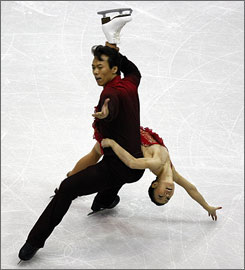 China's Shen Xue and Zhao Hongbo, the 2006 Olympic bronze medalists, won the Pairs event at Skate America, capturing their second gold medal of the season.