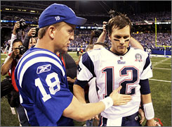 Peyton Manning and the Colts came back to beat Tom Brady and the Patriots.