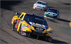 Jeff Burton logged his best finish of the season Sunday at Phoenix International Raceway with a runner-up effort behind points leader Jimmie Johnson.