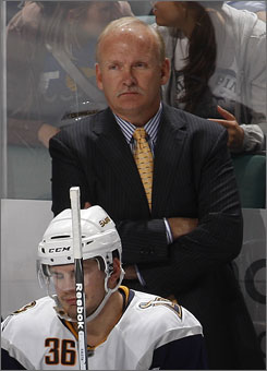 Buffalo Sabres coach Lindy Ruff rolls four lines, which he says will benefit his team when the travel schedule becomes &quot;ridiculous&quot; in January and February.