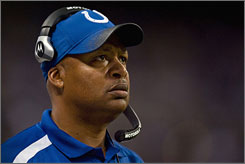Colts coach Jim Caldwell is the first rookie head coach in NFL history to lead his team to a 9-0 start.