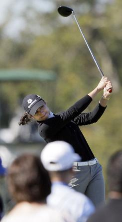 Lorena Ochoa of Mexico, the three-time LPGA Player of the Year, has to catch Jiyai Shin in the race for the tour's top honor this year.