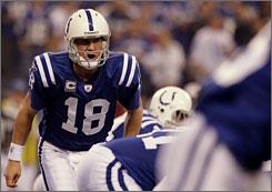 Peyton Manning and the Colts have won six straight games against the Baltimore Ravens.