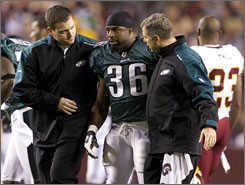 The concussion suffered by Eagles RB Brian Westbrook on Oct. 26 was the first of two he would sustain in less than three weeks.