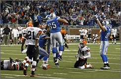 The Lions outlasted the Browns for just their second win in the past two seasons.