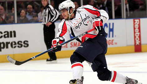 Washington's Alex Ovechkin, who missed six games in November with an upper-body strain, scored a goal in his first game back. The Capitals went 4-2 without him.