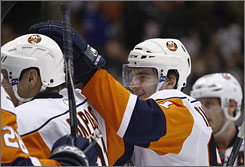 New York Islanders center John Tavares has smoothly made the transition from junior sensation to top-line NHL player.