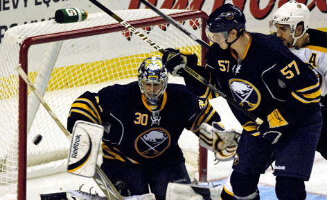 Buffalo Sabres defenseman Tyler Myers has made a splash as a rookie while Ryan Miller's play in net has put him in position to be the top U.S. goalie at the Olympics.