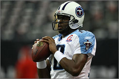 Vince Young has won his last eight starts for the Titans, including four in a row this season.